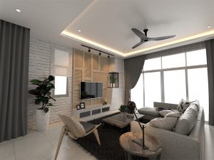 Double Storey Cluster Home Living room