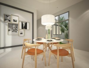 New single storey corner home Ipoh - dining room