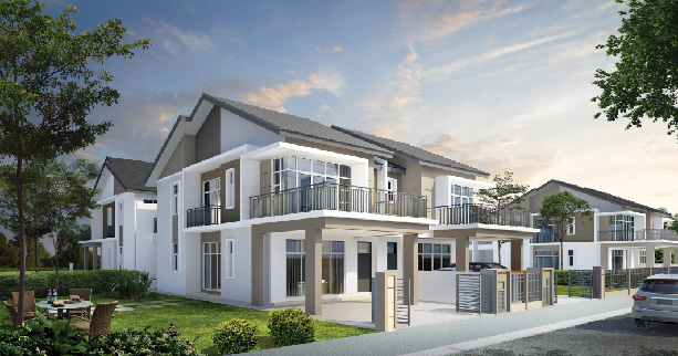 Primrose double storey cluster home Ipoh