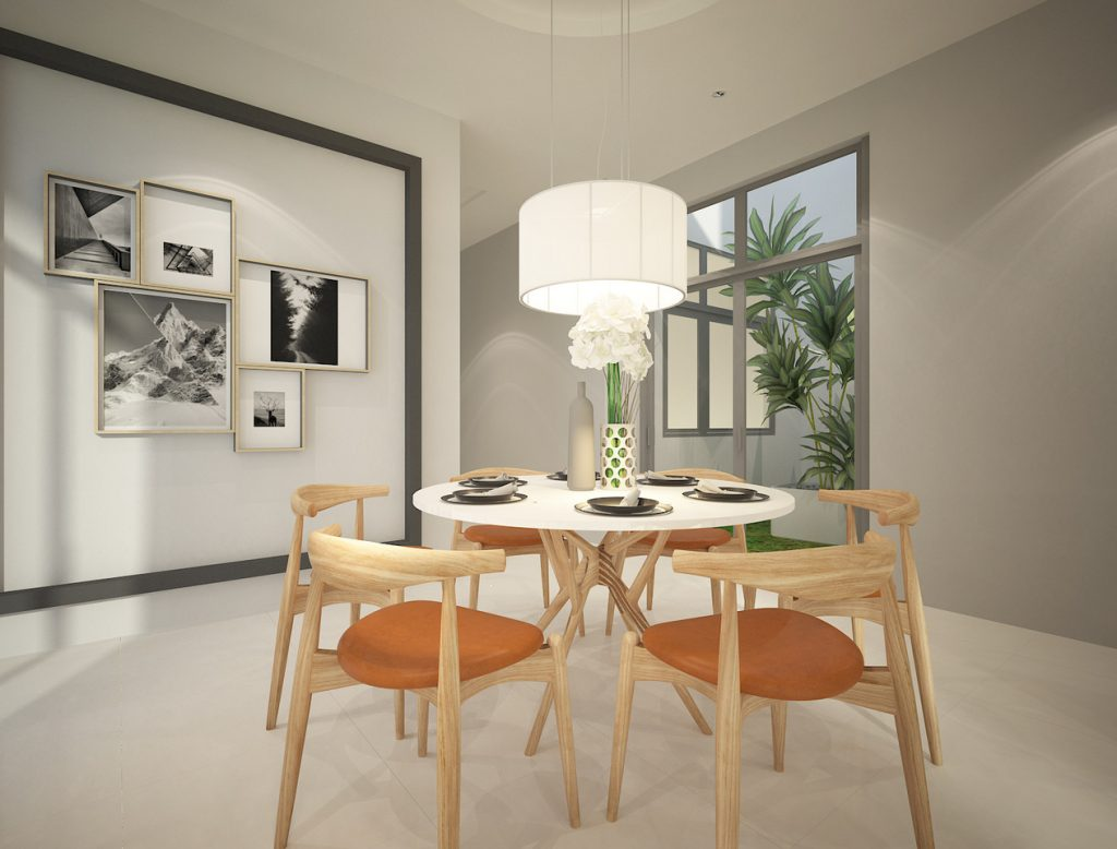 New single storey corner home Ipoh - dining room