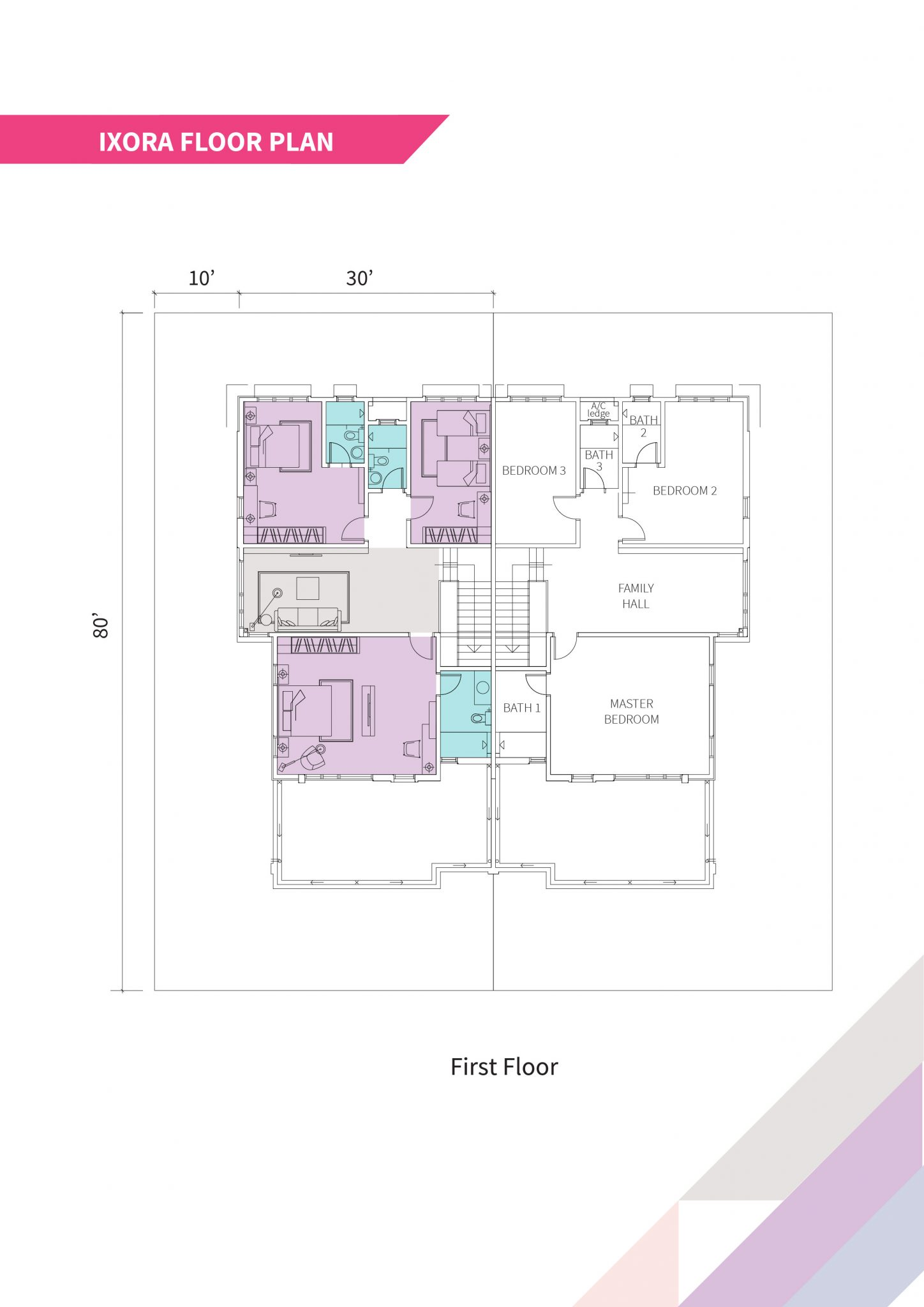 Ixora semi d floor plan- first floor