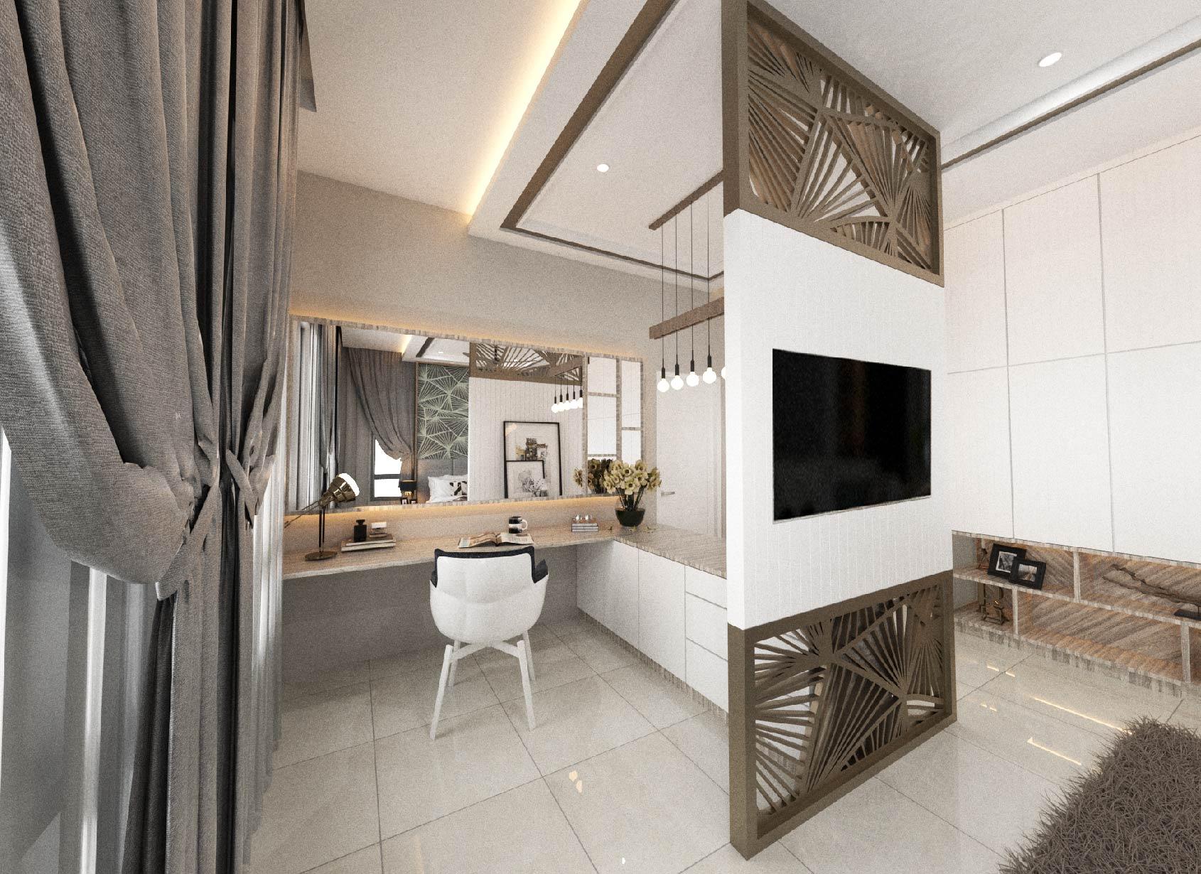 Ixora Semi-D master bedroom
