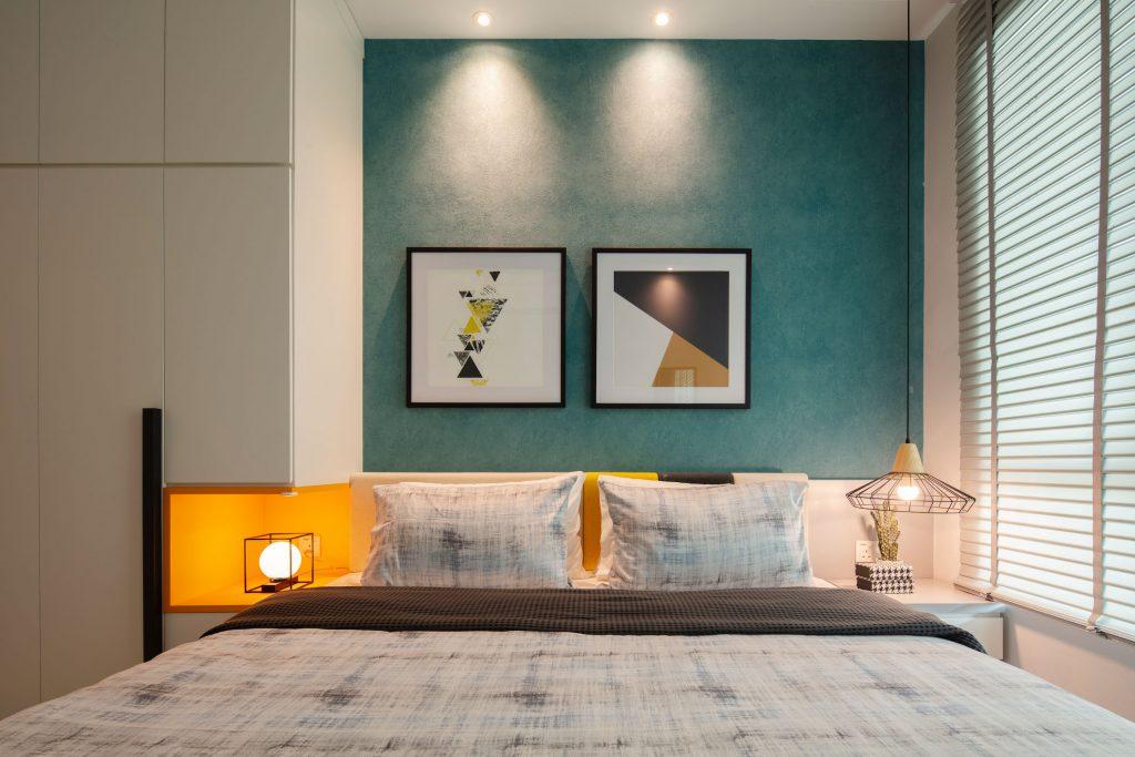 Cornflower master bedroom